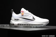 dc993e65ac Cheap Off White X Nike Air Max 97 The Ten OW Unisex shoes White Black  WhatsApp:861332837359