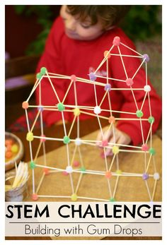 Stem Challenge| Building with Gum Drops LOVE this science activity for Christmas. Awesome for anytime of the year too!