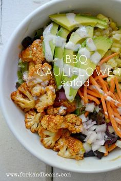 "BBQ Cauliflower Salad <span class=""EmojiInput mj230"" title=""Black Heart Suit""></span>Follow us<span class=""EmojiInput mj230"" title=""Black Heart Suit""></span>"