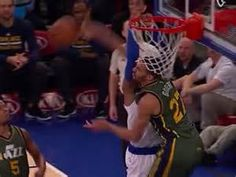 Watch Utah Jazz?s Rudy Gobert Emphatically Reject Carmelo Anthony?s Wimpy Dunk Attempt