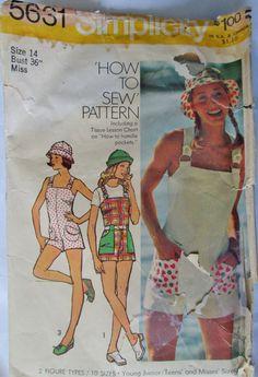 Simplicity 5631 Teen Women Jumpsuit Hat Pattern by Denisecraft, $5.99