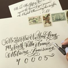 Flourish on flourish on #flourish. #fancy #envelopeaddressing #calligraphy #fakeaddress