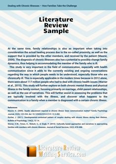 samples of a literature review