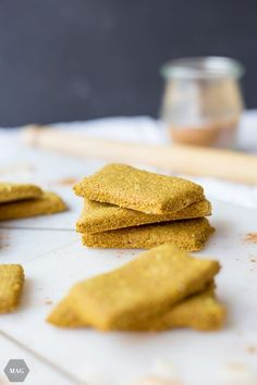 Turmeric biscuits in the style of golden milk More than green stuff - Turmeric cookies, spice cookies, winter cookies, golden milk cookies, autumn cookies - Healthy Cookie Recipes, Healthy Meals To Cook, Healthy Cookies, Baking Recipes, Vegan Recipes, Cake Recipes, Cookies Vegan, Milk Cookies, Spice Cookies