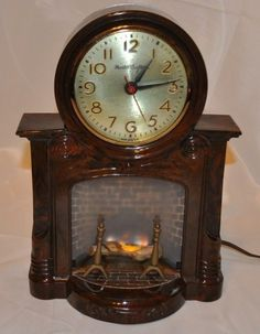 American Mastercrafters Fireplace Clock Circa 1955