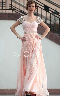 Enchanting-A-Line-Taffeta-Sweetheart-Short-Sleeve-Natural-Floor-Length-Lace-Zipper-Graduation-dresses-30676-03.jpg (750×1200)