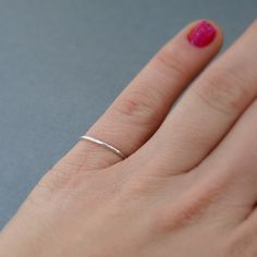 Thin Sterling Silver Ring by CatherineMarissa on Etsy.