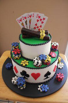Poker & Cigars Groom's Cake\ #timelesstreasure.theaspenshops.com