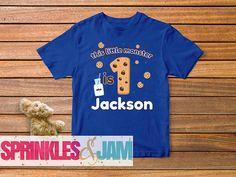 Cookies and Milk Birthday, Monster Cookie Birthday Shirt, Cookie Birthday Shirt, Monster Bodysuit Family Birthday Shirts, Custom Birthday Shirts, Boy Birthday, Cookie Monster Shirt, Party Themes, Party Ideas, Sesame Street Birthday, Happy 1st Birthdays, Cute Cookies