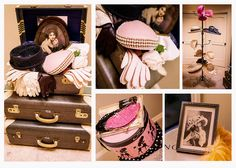 Vintage hats, gloves & Suitcases for Ladies Tea Party, https://www.facebook.com/pages/Leslie-Menocal-Photography/148274751889135
