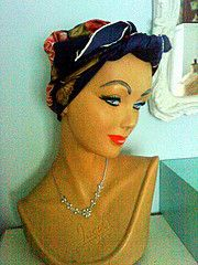 Delightfully arch vintage mannequin bust Inspirations from the super funky Crystal Vintage shop in a converted horsebox featured on George Clarke's Amazing Spaces. http://mycoolhomepage.com/chloes-tips-on-buying-vintage-clothing-owner-of-the-amazing-spaces-horsebox/