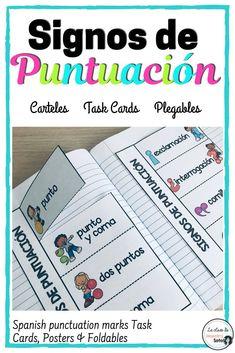 Spanish Teacher, Spanish Class, Teaching Spanish, Spanish Activities, Class Activities, Spanish Word Wall, Punctuation Posters, Spanish Projects, Elementary Spanish