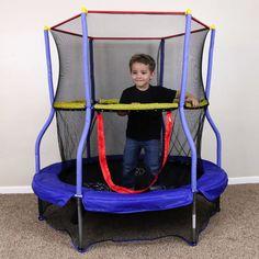 Round Bouncer Trampoline Child Play Games Outdoor Interactive Learn Safety Net  #SkywalkerTrampolines
