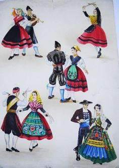 Regional, Traditional Outfits, Disney Characters, Fictional Characters, Dance, Costumes, Disney Princess, Ancestry, Oriental