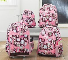 Mackenzie Chocolate Kitty Backpacks | Pottery Barn Kids $22.99 small backpack, large $36