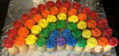 Farrah's Rainbow 1st Birthday Party / rainbow cupcakes / rainbow cake