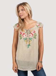Johnny Was: Watson Peasant Top