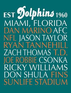 Miami Dolphins Framed Prints, Miami Dolphins Framed Art, and Miami ...