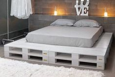 custom bed frames with seating - Google Search