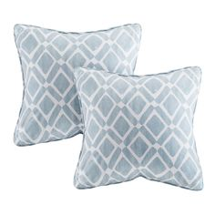 A set of gorgeous light blue throw pillows from Joss & Main. Various colors avaible for mixing and matching.