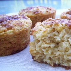Légèreté & Gourmandises: Muffins de flocons d'avoine aux pommes (4 PP)