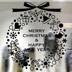 Merry Christmas Window Showcase Decoration Wall Stickers