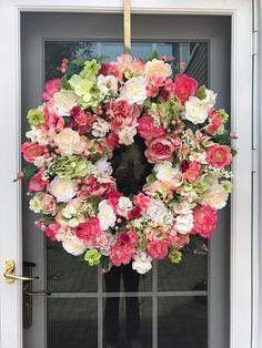 front door wreaths spring wreath spring door wreath summer wreath colorful wreaths wreaths for front door