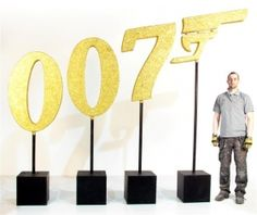 High quality Gold Glittered 007 Prop high) available to hire. View Gold Glittered 007 Prop high) details, dimensions and images. Casino Party Decorations, Casino Theme, Party Themes, Theme Ideas, Party Ideas, James Bond Party, James Bond Theme, 007 Theme, 70th Birthday Parties