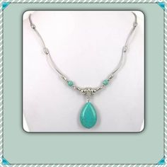 Silver Tibetan & Turquoise Necklace New In Package