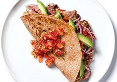 400 cal meal:  steak quesadilla