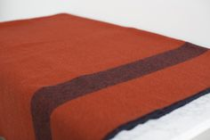 Amana Woolen Mill Non-issued Civil War Blanket in Red Woolen Mills b318eda41