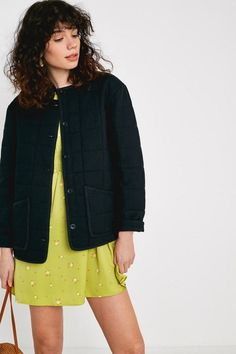 0ba7451cf2d5 UO Black Quilted Liner Jacket | Urban Outfitters Black Quilt, Urban  Outfitters, Fashion Eye