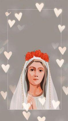 Catholic Wallpaper, Jesus Wallpaper, Jesus Mother, Blessed Mother Mary, Christian Artwork, Christian Wallpaper, Catholic Pictures, Jesus Pictures, Mother Mary Wallpaper