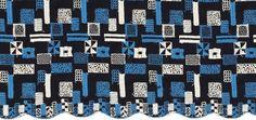 サリースコット(Sally Scott)のオリジナルテキスタイル スクエアパネル刺繍