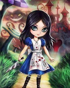 Alice In Wonderland Artwork, Alice In Wonderland Tea Party, Alice Liddell, Chibi, Alice Madness Returns, Psychological Horror, Creepy Pasta, Adventures In Wonderland, Indie Games