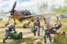 Servicing a German Fw-190