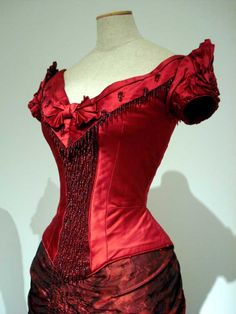 Detail of Ellen Olenska's 1870s-style dress from The Age of Innocence. Designed by Gabriella Pescucci.