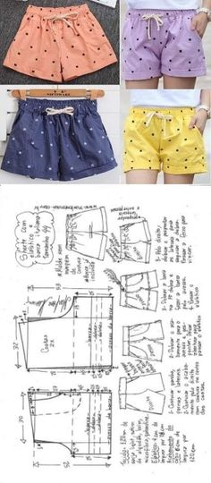 How To Make Scarf, How To Make Clothes, Sewing Shorts, Sewing Clothes, Diy Shorts, Modest Shorts, Barbie Clothes, Dress Sewing Patterns, Clothing Patterns