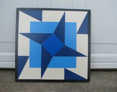 Barn Quilt 2x2 Triangles by barnquiltsetc on Etsy