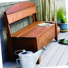 Beautiful Outdoor Storage Bench Plans
