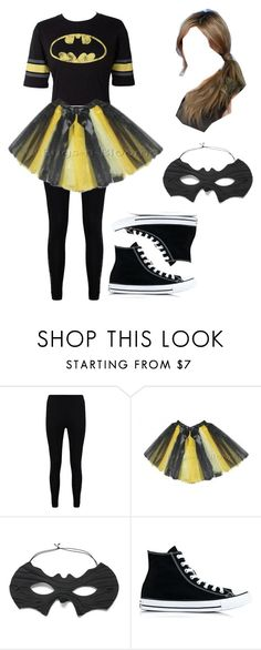 """""""DIY costumes-Batman"""" by shoppingismycardio99 on Polyvore featuring Boohoo, Nana' and Converse"""