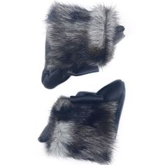 Baby girl, black fur boots