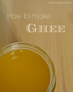 How to Make Ghee - W