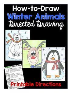 drawing drawing of love Reindeer, Polar Bear, Penguin Kindergarten Art, Preschool Art, Grade 1 Art, Winter Drawings, Winter Art Projects, Class Projects, Classroom Crafts, Classroom Ideas, Drawing For Kids