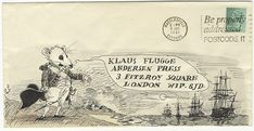 The Guardian posted a slideshow of childrens book publisher, Klaus Flugges collection of illustrated envelopes.