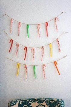 Do you have a million candy canes sitting around the house every year? Use them to create a fun DIY Christmas garland with the Easy Candy Cane Garland tutorial. Christmas Candy Cane Decorations, Diy Christmas Garland, Candy Decorations, Noel Christmas, Merry Little Christmas, Winter Christmas, Christmas Crafts, Whimsical Christmas, Office Christmas