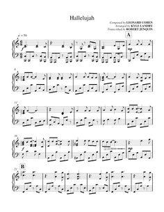 All Sheets: Leonard Cohen - Hallelujah (Kyle Landry)