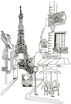 paris sketch for photobooth