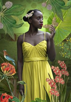 Angie Mudukuti in yellow dress - Karin Miller Style Afro, Caribbean Art, South African Artists, Black Artwork, Photographs Of People, Famous Photographers, Black Artists, Portrait Art, Portrait Photography