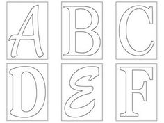 free template for alphabet abcs